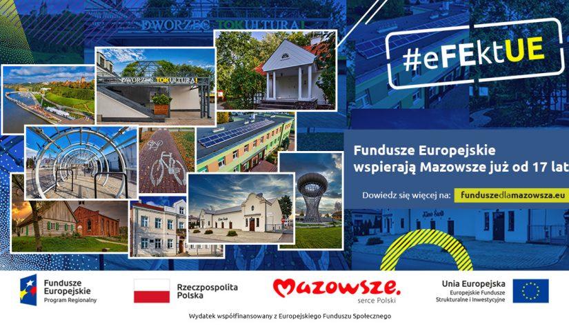 Grafika z kolażem zdjęć pokazujących najlepsze projekty zrealizowane w ramach programu regionalnego
